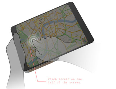 e-paper for gps navigation map