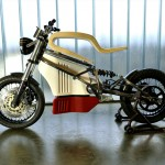 e-Raw Electric Bike Features Elastic Wooden Seat with Steel Frame
