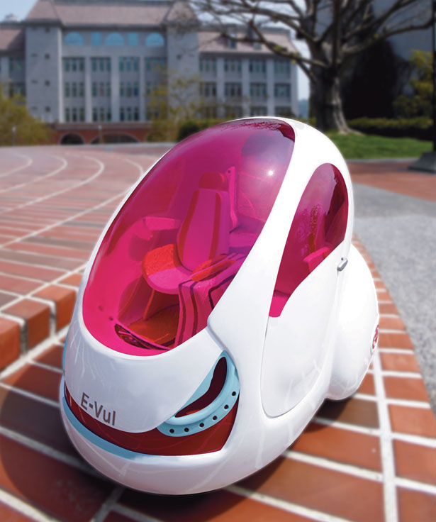 E-Vul Electric Car Concept for The Year of 2030