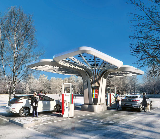 E.ON Ultra-Fast Charging Stations by Graft Lab