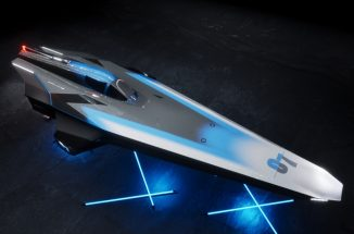 E1 Electric RaceBird Powerboat Was Inspired by Birds Flying Low Over Water