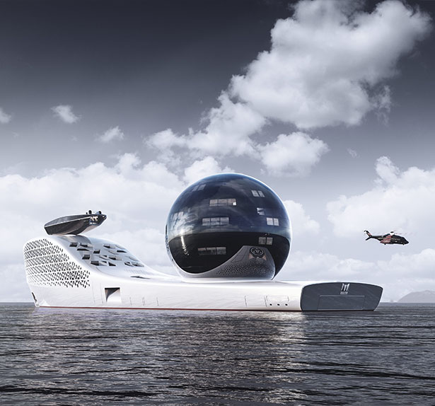 Futuristic Earth300 Exploration Vessel for Scientists, Experts, Students or Private Citizens