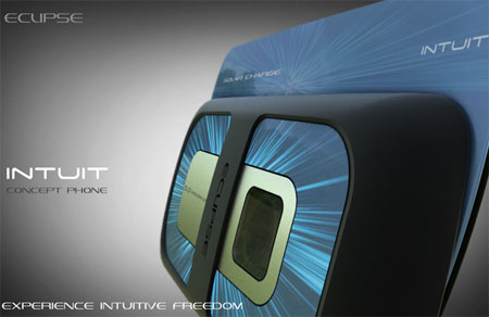 Eclipse Intuit Cell Phone Concept with Solar Panel - Tuvie