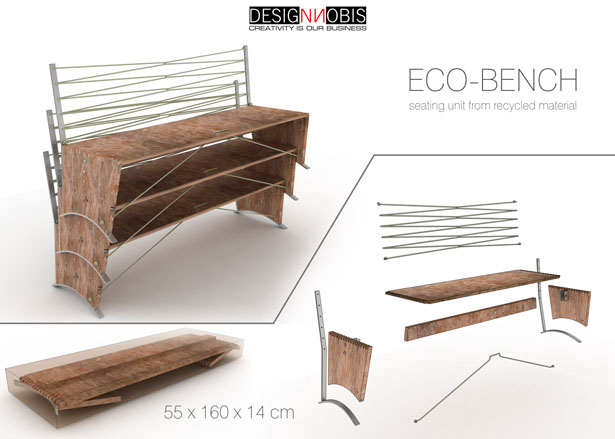 eco bench from designnobis tuvie. Black Bedroom Furniture Sets. Home Design Ideas