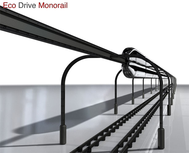 Eco Drive Monorail : The Sustainable Rail Service Solution Concept For Future