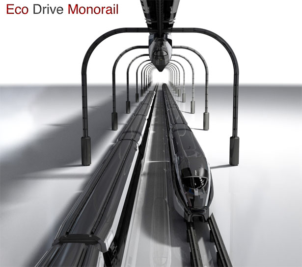 eco drive monorail by Philip Pauley