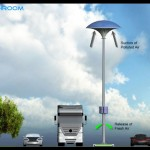 Eco Mushroom : Solar Street Light with Pollution Absorber