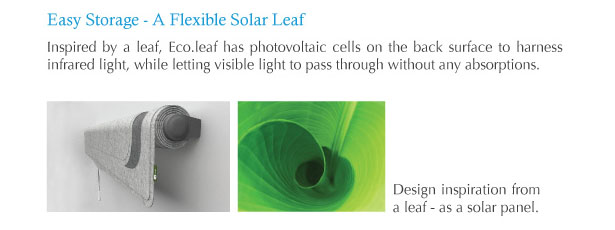 Eco.Leaf Solar Curtain Light by Lim Wan Xuan and Jane Tang Xueling
