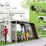 Econology Life Bicycle Shelter Combines Nature and Eco Friendly Technology