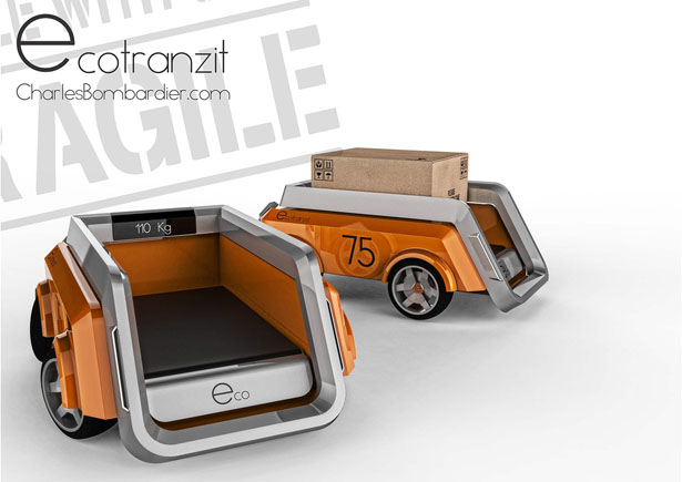 Ecotranzit Urban Package Delivery Bot by Charles Bombardier and Martin Rico