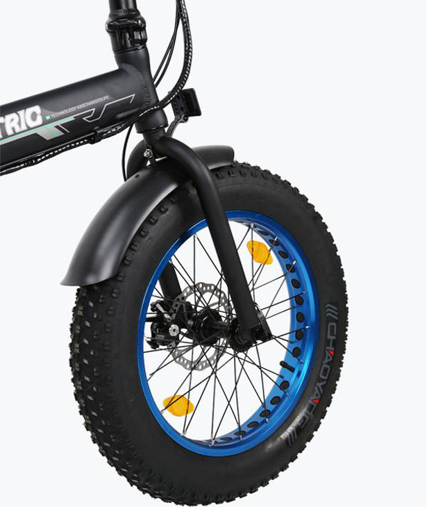 Ecotric Fat Tire Folding Electric Bike with 20-inch Tire