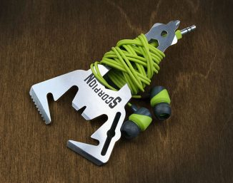 Everyday Carry Scorpion 12-in-1 Multitool Also Works as A Wrap for Your Earbuds