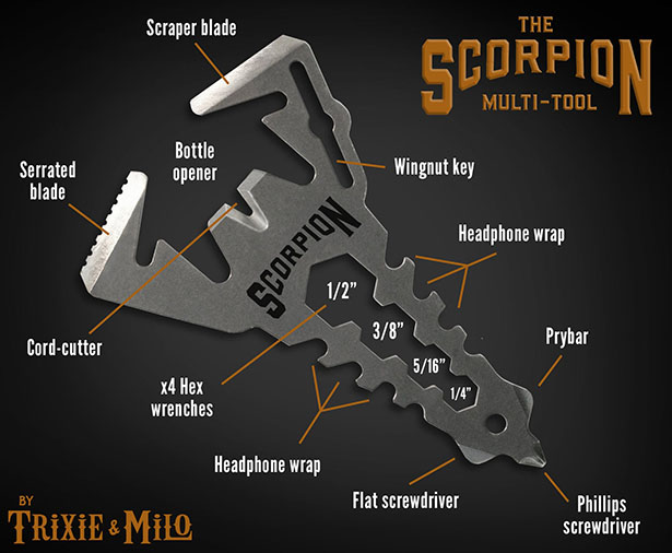 Everyday Carry Scorpion 12-in-1 Multitool