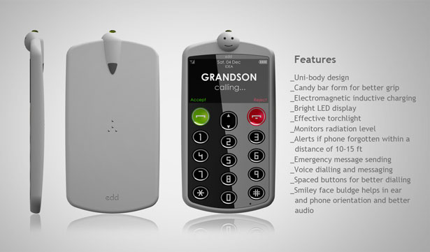 Edd Phone for Elderly People by Anurag Sarda