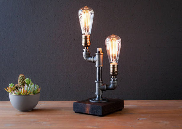 Edison Style Rustic Lamp by Urban Industrial Craft