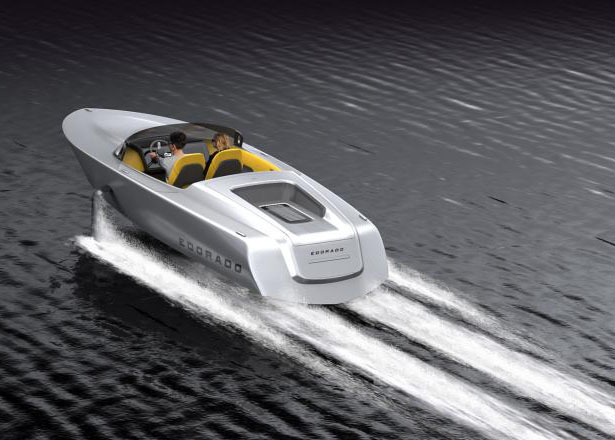 Edorado 7S Powerboat Features Hydrofoil Technology by Springtime