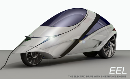 eel electric vehicle with bioethanol engine