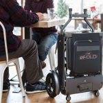eFOLDi Folding 3-in-1 eScooter: a Chair, a Scooter, and a Wheeled Suitcase