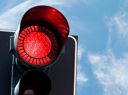 eko ecological and economical traffic light concept