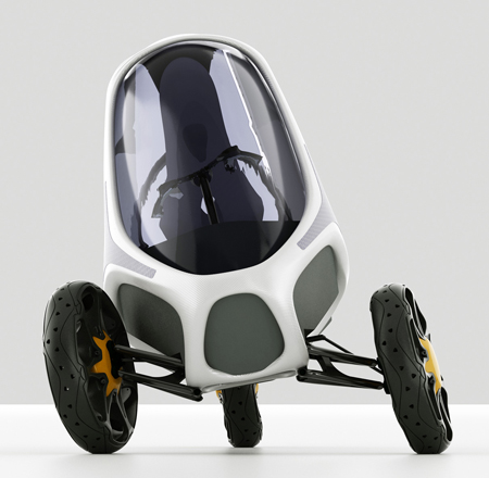 Electropositive Three Wheeler Concept Vehicle as Urban Transportation