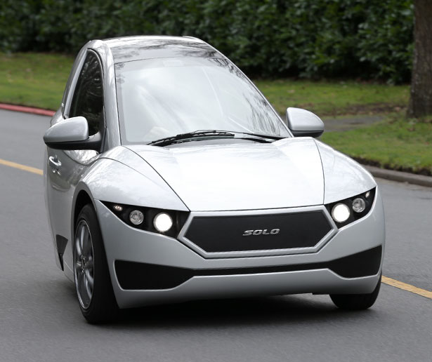 Electra Meccanica Solo - Single Seat Three-Wheel Electric Vehicle
