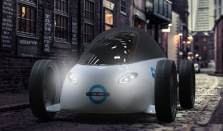 """All Electric Concept Car Proposal for """"Barclays Car Hire"""" System"""
