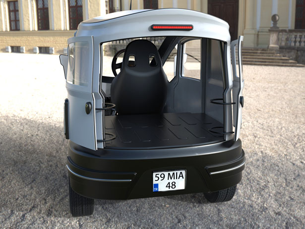 Three Wheeled Electric Vehicle by Alp Germaner