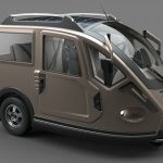 Multipurpose Three Wheeled Electric Vehicle by Alp Germaner