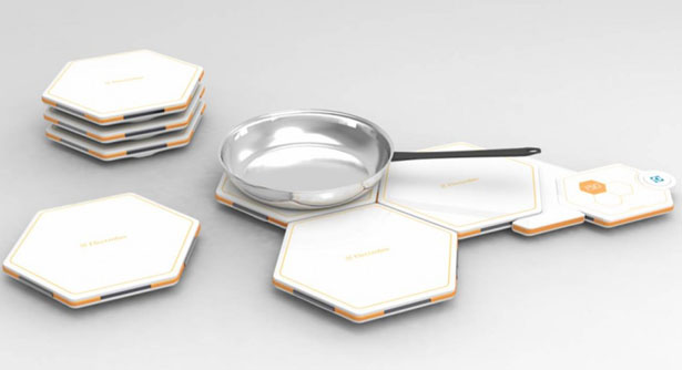 Honeycomb Modular Induction Tiles by Alfred Ching