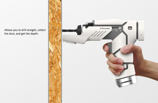 Electrolux Wireless Electric Drill Concept by Yu-Chung Chang