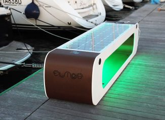 Elios Smart Bench – Urban Outdoor Furniture Uses Renewable Energy to Provide Technological Solutions