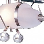 Stylish and Modern Prop Plane Pendant in Satin Nickel for Children