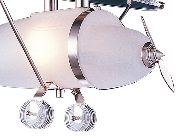 Stylish and Modern Prop Plane Pendant in Satin Nickel by ELK Lighting