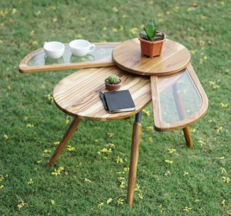 Elytra : A Winged Table Furniture Design Inspired by a Bettle