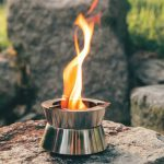 Stackable Ember Pocket Stove with Fire Vortex for Concentrated Heating at High Temperatures