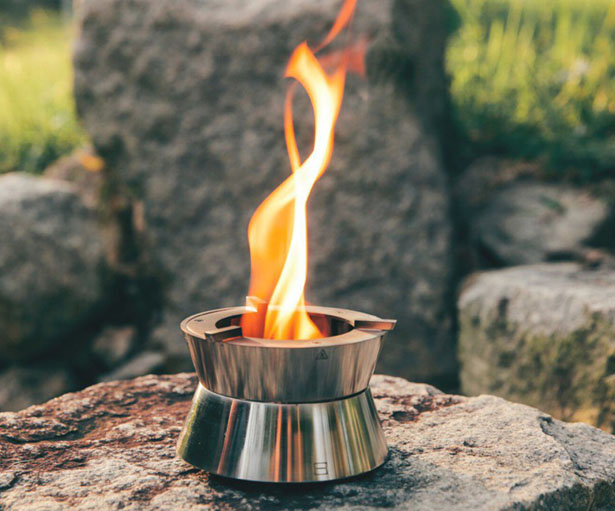Ember Pocket Stove with Fire Vortex for Camping