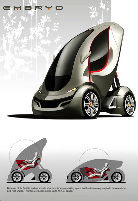 embryo eco friendly car concept tuvie. Black Bedroom Furniture Sets. Home Design Ideas