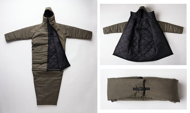 EMPWR Coat : Water-Resistant Jacket and Sleeping Bag in One