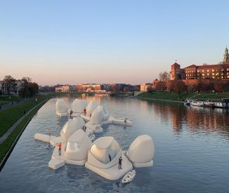 Floating Co-Working Space Concept on Vistula River for Post-Covid19 World