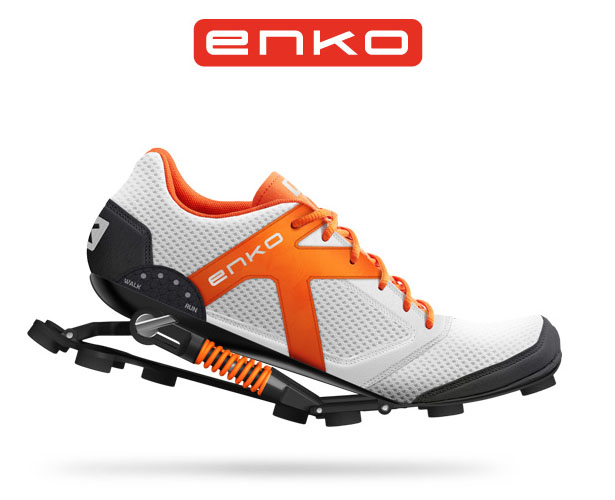 Enko Running Shoes Keep All Energy and Give It Back When You Lift Your Heel Off The Ground