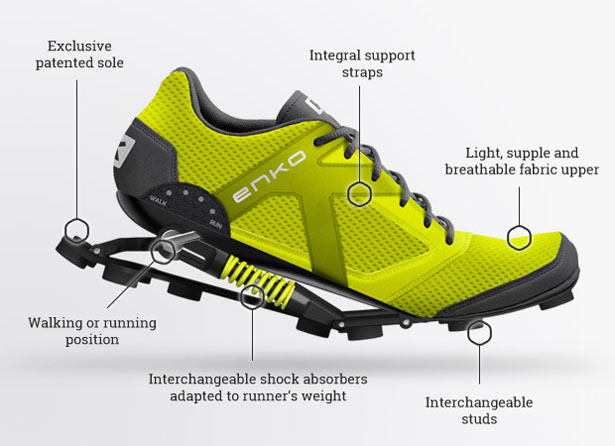 Enko Running Shoes by Christian FRESCHI