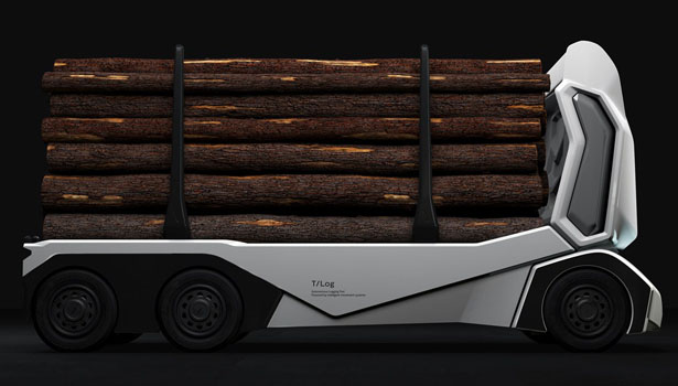 Enride T-log: Autonomous Electric Truck Designed Specially to Carry Logs