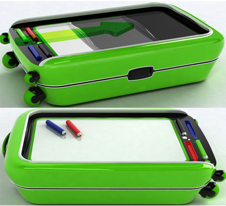 Colored : A Suitcase with Built-in Whiteboard and Markers for Children to Play