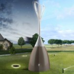 Eol'eau Collects Rain Water and Produces Electricity from The Wind Energy