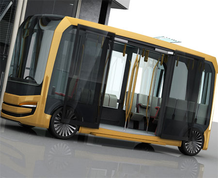 Eolo Urban Transportation Bus Can Purify The Air By Removing Toxic Elements Emitted By Cars