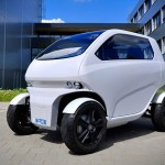 EOscc2 Flexible Micro Car for Mega Cities with Open Scissor Doors