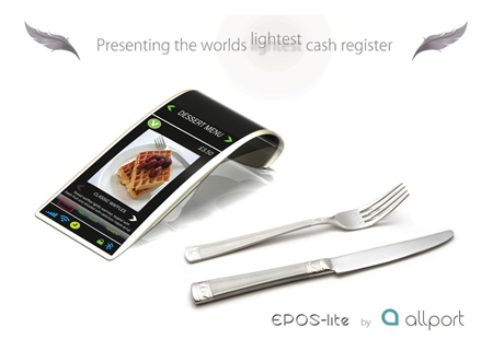 EPOS Lite Cash Register Concept Design is Inspired by Apple MacBook Air and iPhone