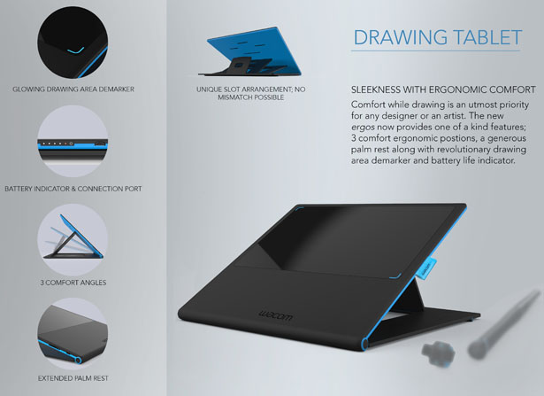 Ergos Concept Sketching Tablet Redesign