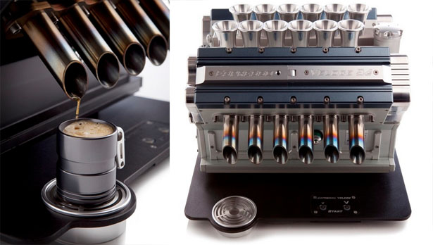 gorgeous v12 espresso machine from espresso veloce tuvie. Black Bedroom Furniture Sets. Home Design Ideas