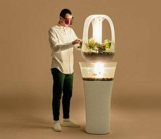 Eva – Modern Indoor Aquaponics Furniture Displays a Symbiotic Relationship Between Fish and Plants